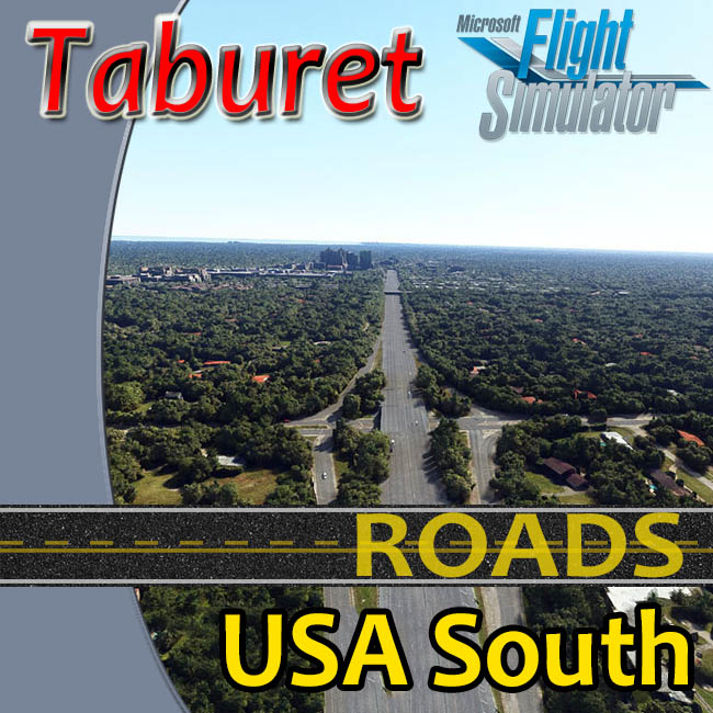 Taburet – USA South Roads For MSFS 2020