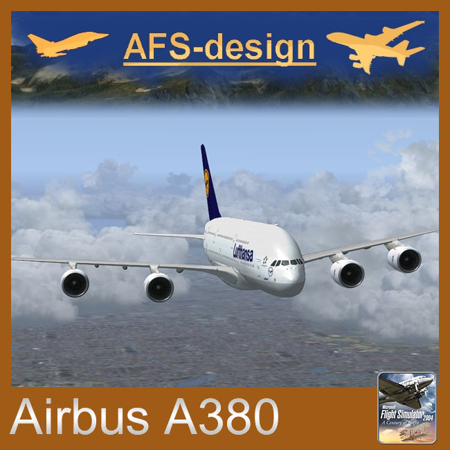 AFS Design – Airbus A380 v3 for FS2004