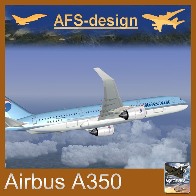 AFS Design – Airbus A350 Family v3 for FS2004