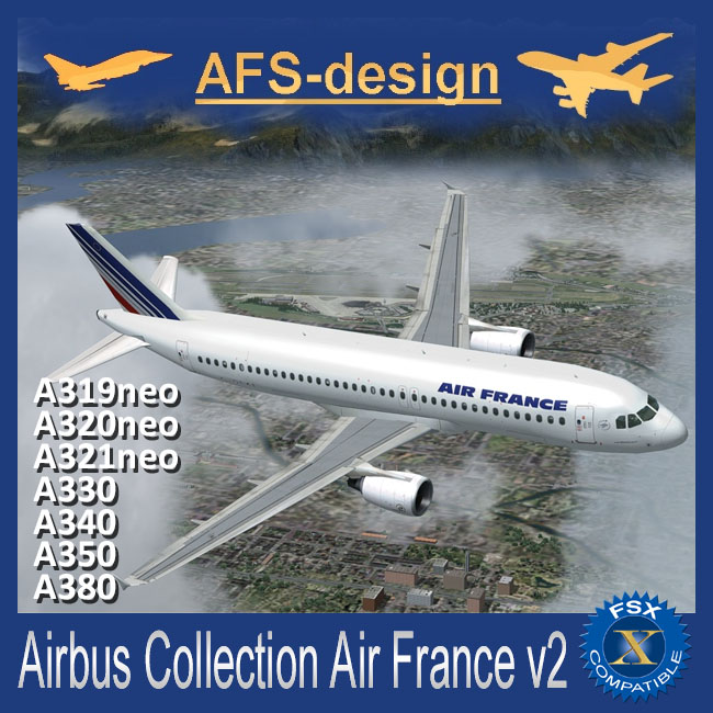 AFS Design – Airbus Collection – Air France V2 for FSX