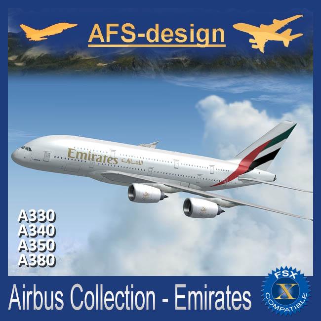 AFS Design – Airbus Collection – Emirates  FSX only