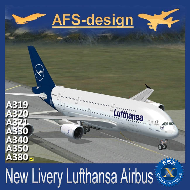 AFS Design – Airbus Collection – New Livery Lufthansa V2 for FSX