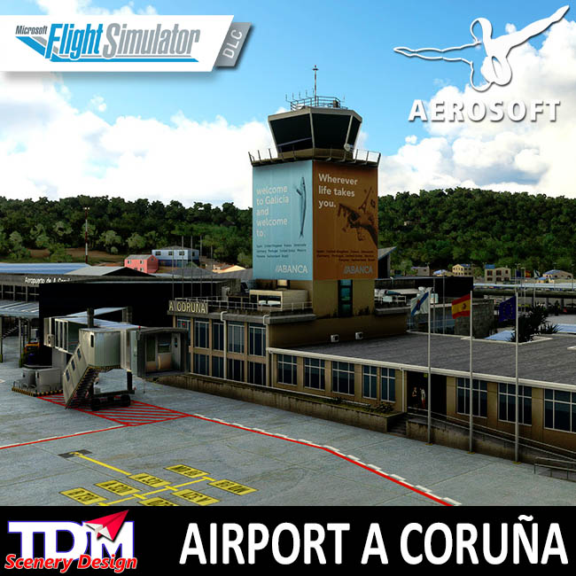 Aerosoft – TDM Scenery Design – Airport A Coruña for MSFS
