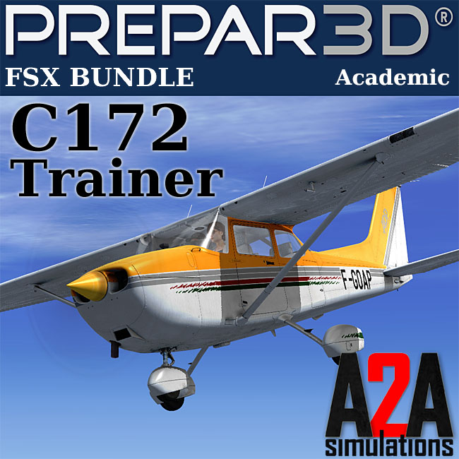 A2A Simulations – Accu-Sim C172 Trainer Bundle for FSX & P3D Academic