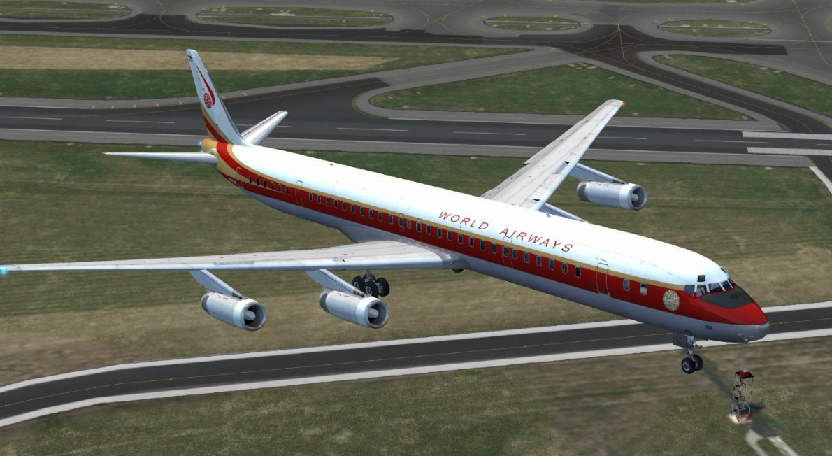 Just Flight - DC-8 50 to 70 Livery Pack 1 for FSX & P3D