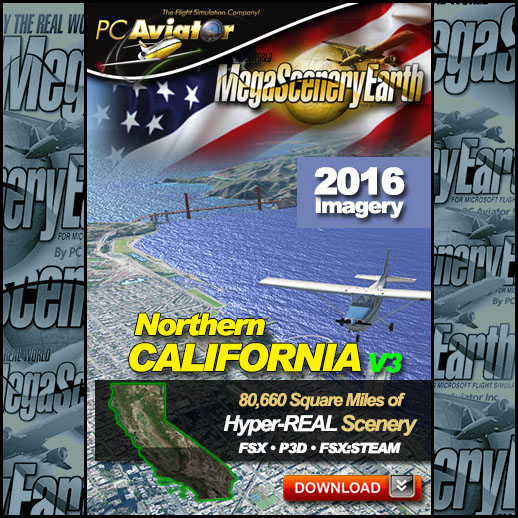 MegaScenery Earth - V3 Northern California for FSX/P3D