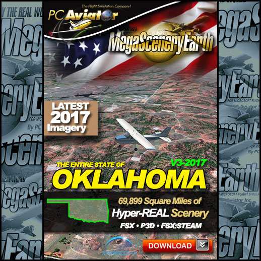 MegaScenery Earth - V3 Oklahoma Complete State for FSX/P3D