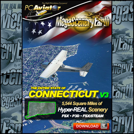 MegaScenery Earth - V3 Connecticut Complete State for FSX/P3D